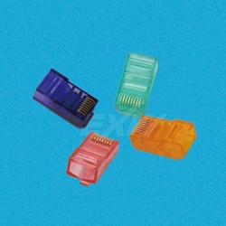 RJ45 Connector Red Blue Color for Cat5e UTP