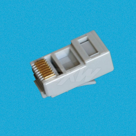 RJ45 Connector Grey for Cat5e UTP
